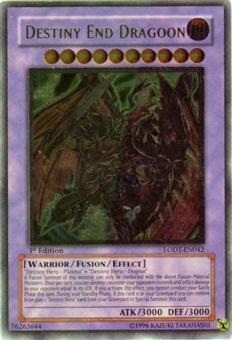 Yu-Gi-Oh Light of Destruction Single Destiny End Dragoon Ultimate Rare (LODT-EN0