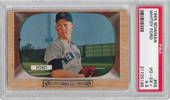1955 Bowman Baseball #59 Whitey Ford PSA 4.5 (VG-EX+) *5199