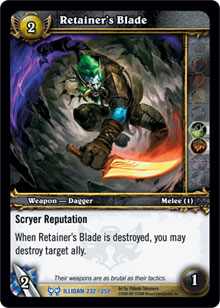 WoW Illidan Single Retainer's Blade (HfI-232) NM/MT