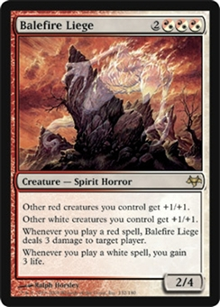 Magic the Gathering Eventide Single Balefire Liege Foil
