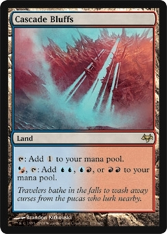 Magic the Gathering Eventide Single Cascade Bluffs UNPLAYED (NM/MT)