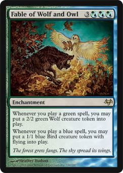 Magic the Gathering Eventide Single Fable of Wolf and Owl - NEAR MINT (NM)