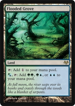 Magic the Gathering Eventide Single Flooded Grove FOIL NEAR MINT