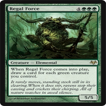 Magic the Gathering Eventide Single Regal Force FOIL - NEAR MINT (NM)
