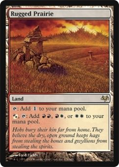 Magic the Gathering Eventide Single Rugged Prairie FOIL - SLIGHT PLAY (SP)