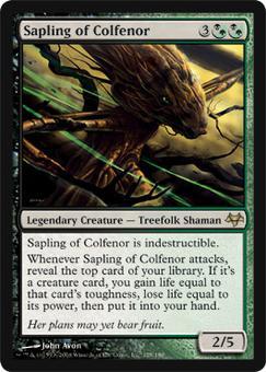 Magic the Gathering Eventide Single Sapling of Colfenor - NEAR MINT (NM)