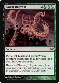 Magic the Gathering Eventide Single Worm Harvest - NEAR MINT (NM)
