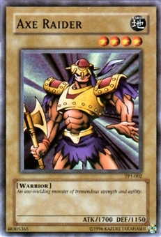 Yu-Gi-Oh Tournament Pack 1 Single Axe Raider Rare Foil (TP1-002)