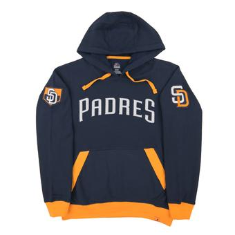 San Diego Padres Majestic Navy Third Wind Fleece Hoodie (Adult Small)