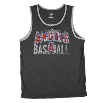 Los Angeles Angels Majestic Gray Valiant Victory Dual Blend Tank Top (Adult L)