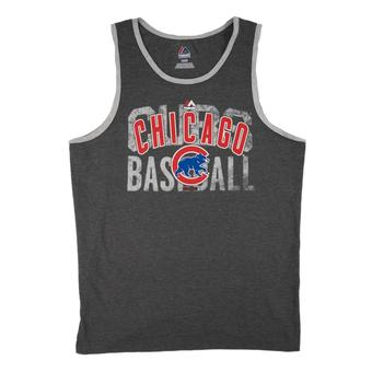 Chicago Cubs Majestic Gray Valiant Victory Dual Blend Tank Top (Adult S)