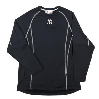 New York Yankees Majestic Navy Performance On Field Practice Fleece Pullover (Adult Large)