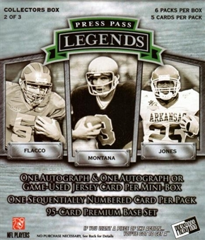2008 Press Pass Legends Football Mini Box