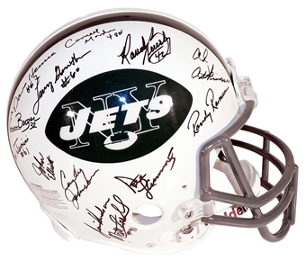 1969 New York Jets Autographed Authentic Proline Team Signed Helmet (Steiner)