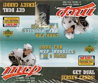 2007/08 Upper Deck MVP Hockey 24-Pack Box