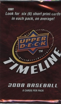 2008 Upper Deck Timeline Baseball Hobby Pack (Lot of 3)