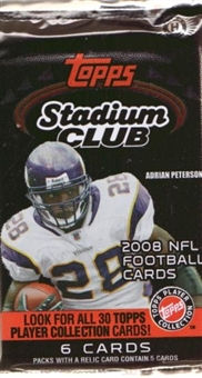 2008 Topps Stadium Club Football Hobby Pack
