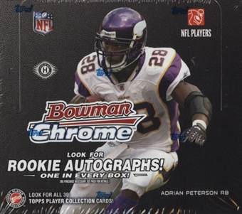 2008 Bowman Chrome Football Hobby Box