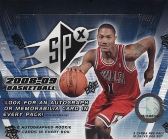 2008/09 Upper Deck SPx Basketball Hobby Box