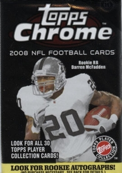 2008 Topps Chrome Football Hobby Pack