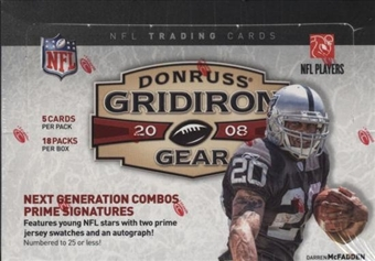 2008 Donruss Gridiron Gear Football Hobby Box