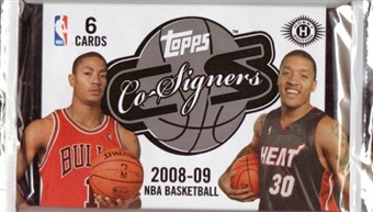 2008/09 Topps Co-Signers Basketball Hobby Pack