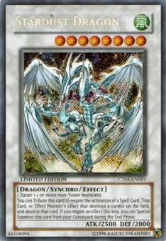 Yu-Gi-Oh Limited Edition Tin Single Stardust Dragon Secret Rare CT05