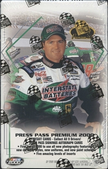 2000 Press Pass Premium Racing Hobby Box