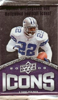 2008 Upper Deck Icons Football Hobby Pack
