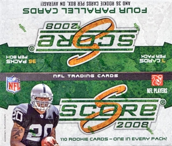 2008 Score Football 36-Pack Box