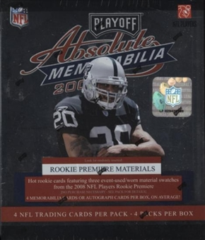 2008 Playoff Absolute Memorabilia Football Hobby Box