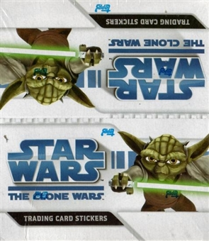 Star Wars Clone Wars Sticker Hobby Box (2008 Topps)