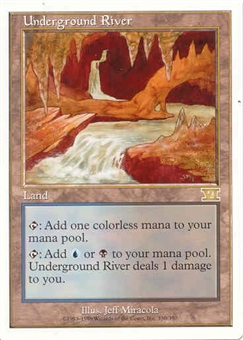 Magic the Gathering 6th Edition Single Underground River UNPLAYED (NM/MT)