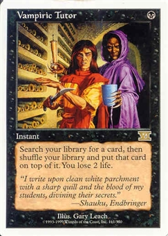 Magic the Gathering 6th Edition Single Vampiric Tutor - NEAR MINT (NM)