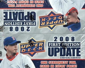 2008 Upper Deck 1st Edition Update Baseball 36-Pack Box