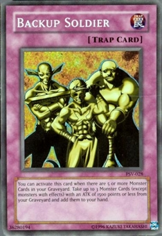 Yu-Gi-Oh Pharaoh's Servant Single Backup Soldier Rare Foil (PSV-028)