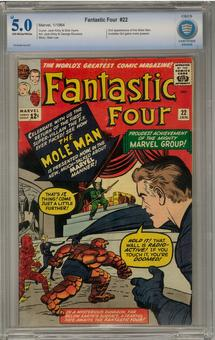 Fantastic Four #22 CBCS 5.0 (OW-W) *7010434-AA-007*