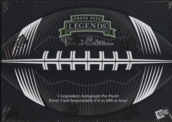 2008 Press Pass Legends Bowl Edition Football Hobby Box