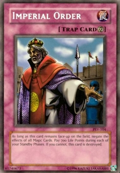 Yu-Gi-Oh Pharaoh's Servant Single Imperial Order Secret Rare (PSV-104)