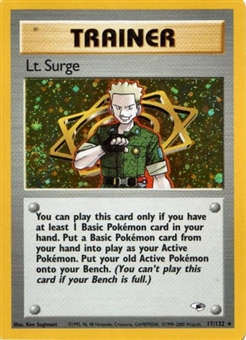 Pokemon Gym Heroes Single Lt. Surge Trainer 17/132