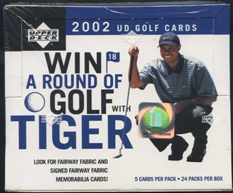 2002 Upper Deck Golf 24 Pack Box