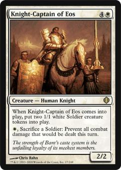 Magic the Gathering Shards of Alara Single Knight-Captain of Eos - NEAR MINT (NM)