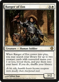 Magic the Gathering Shards of Alara Single Ranger of Eos Foil
