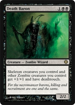 Magic the Gathering Shards of Alara Single Death Baron - SLIGHT PLAY (SP)
