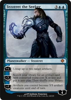 Magic the Gathering Shards of Alara Single Tezzeret the Seeker Foil - SLIGHT PLAY (SP)