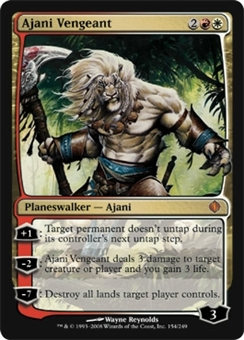 Magic the Gathering Shards of Alara Single Ajani Vengeant Foil