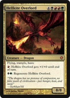 Magic the Gathering Shards of Alara Single Hellkite Overlord - SLIGHT PLAY (SP)
