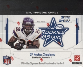2008 Leaf Rookies & Stars Football Hobby Box