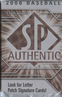 2008 Upper Deck SP Authentic Baseball Hobby Pack