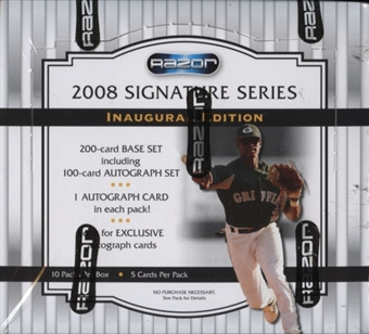 2008 Razor Signature Series Baseball Hobby Box